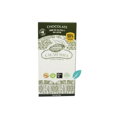 Chocolate en barra 55% cacao Sin Lacteos y Sin Gluten Cacao Soul