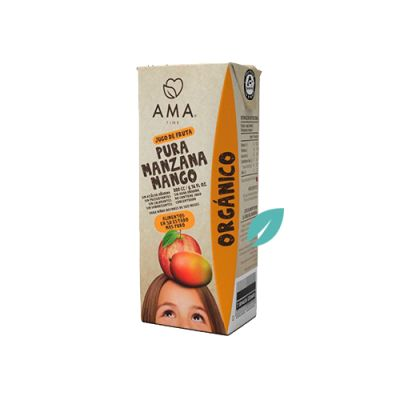 Jugo de frutas Orgánico Manzana Mango Ama 200 cc