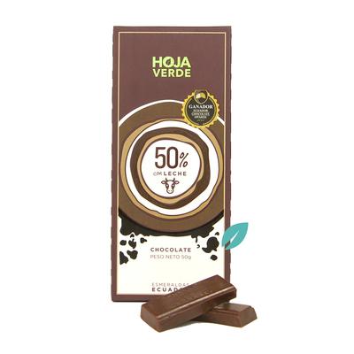 Chocolate 50% Cacao ecuatoriano con leche