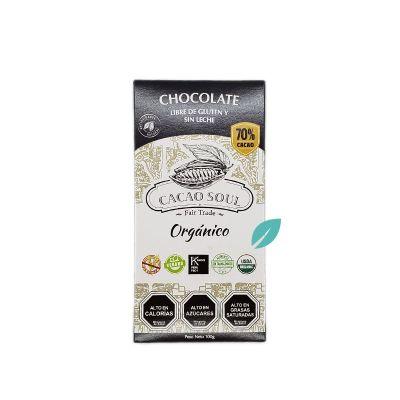 Chocolate en barra 70% cacao Organico Sin Lacteos y Sin Gluten Cacao Soul