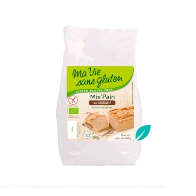 Mezcla Pan Casero (harina) Organico trigo Sarraceno sin gluten