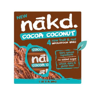 Barra de Cereal Saludable sin gluten Cocoa Coconut Pack 4 unidades
