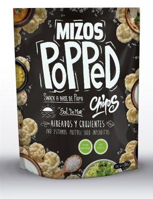 Mizos Popped Individual Chips Papa y Sal de Mar