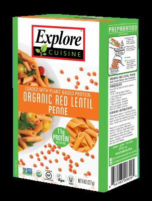 Penne Pasta Lentejas Rojas Organicos Explore Cousine 227 grs
