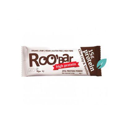 Barra de Proteína Choco Chip Vainilla 60g Roobar