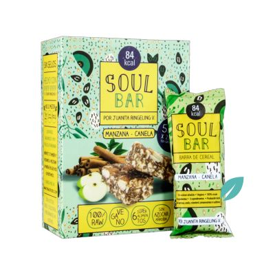 Barra de cereal Soul Bar Manzana Canela 5 unidades