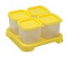 Envases de Plastico 120ml Amarillo 4 unidades