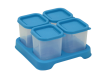 Envases de Plastico 120ml Celeste 4 unidades