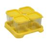 Envases de Vidrio de 120 ml Amarillo  4 unidades