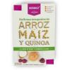 Snack de Galletas Dulces de Arroz, Maiz y Quinoa Sin Azúcar + Sachet de crema de Yogurt y Frambuesa 54 grs