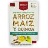 Snack de Galletas Dulces de Arroz, Maiz y Quinoa Sin Azúcar + Sachet de crema de Yogurt, Manzana y Canela 54 grs