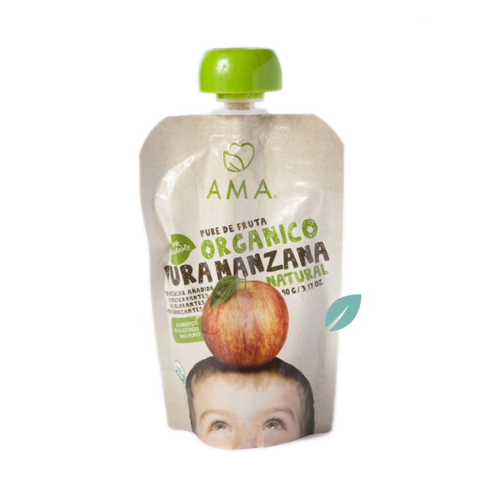 Puré de Frutas Orgánico Manzana 90g