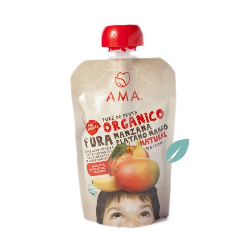 Puré de Frutas Orgánico Manzana, Plátano & Mango 90g