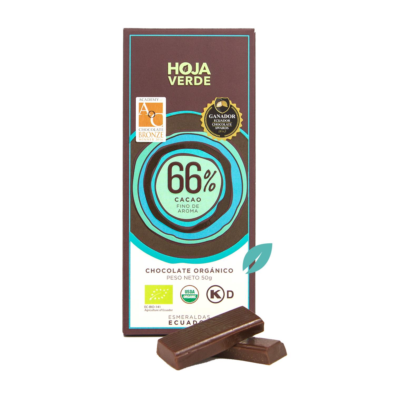 Chocolate organico 66% Cacao ecuatoriano
