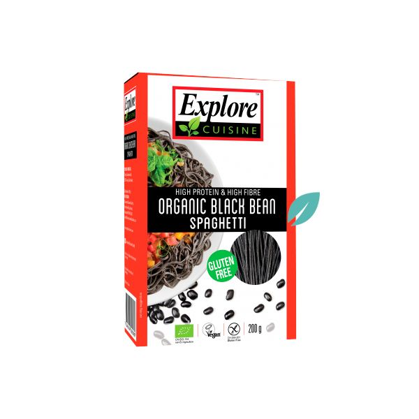 Pasta Spaguetti Porotos Negros Orgánicos Explore Cousine 227 grs
