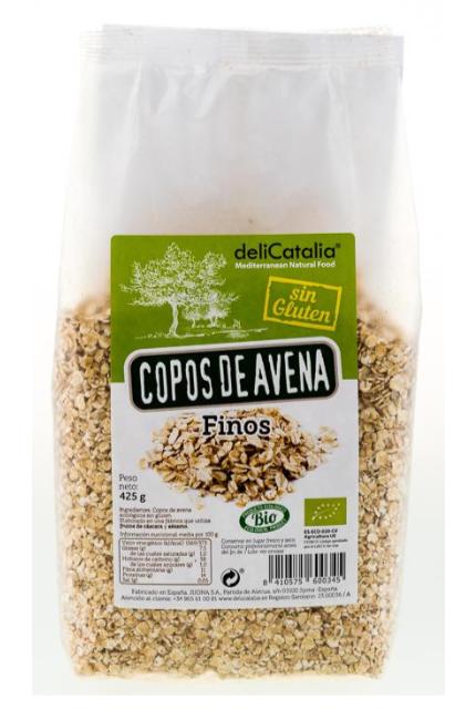 Copos de Avena Sin Gluten Finos Organico 435 grs