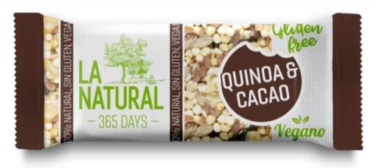 Pack 3 Barritas con Quinoa  y Cacao Sin Gluten 30 grs c/u