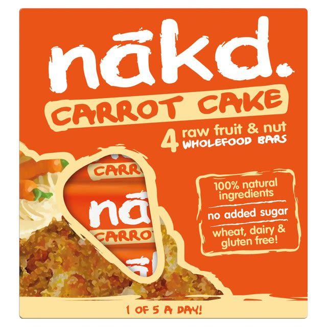 Barra de cereal saludable sin gluten Carrot Cake Pack 4 unidades