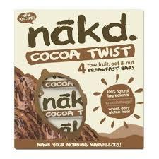Barra de cereal saludable sin gluten Cocoa Twist Pack 4 unidades