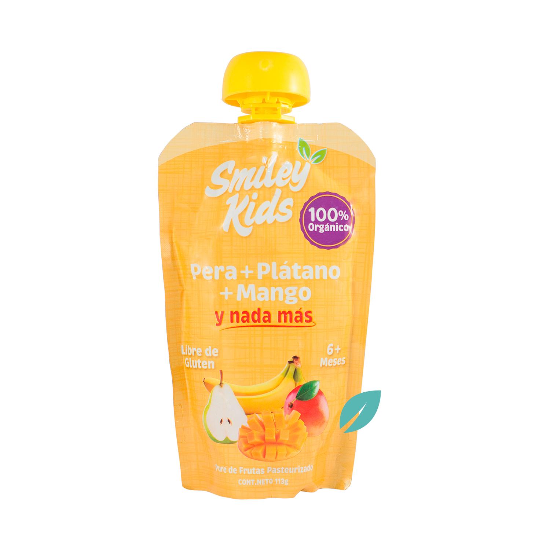 Smileykids Pera, Platano, Mango 113 grs