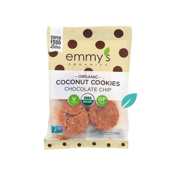 OFERTA 2X1 Galletas de Coco Emmys Chocolate Chip 56 grs