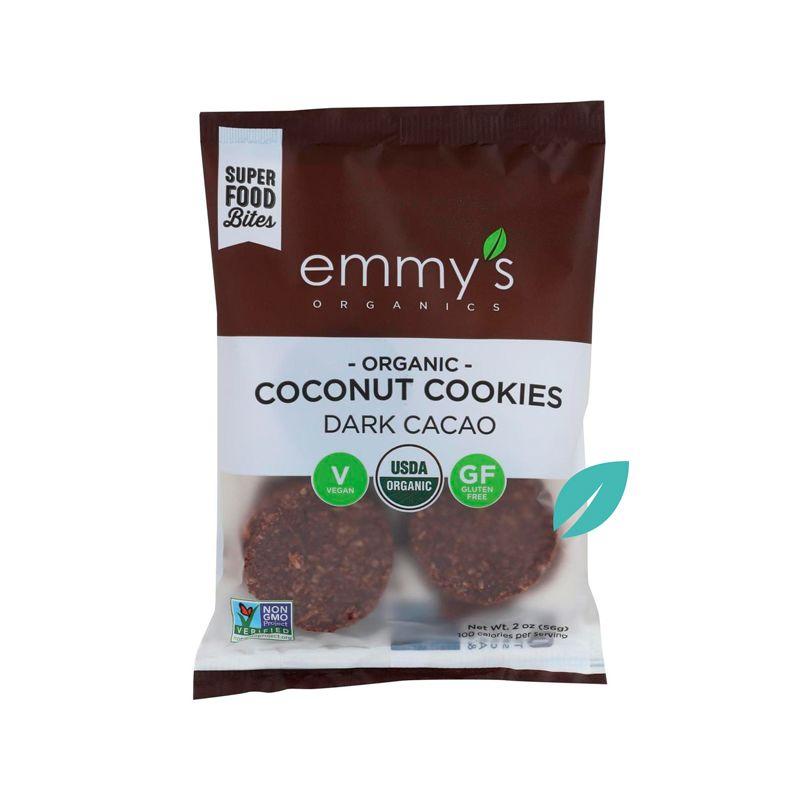 OFERTA 2X1 Galletas de Coco Emmys Chocolate Amargo 56 grs