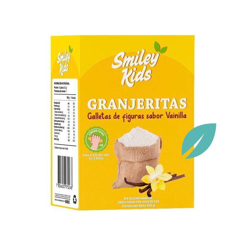 Galletas granjeritas SmileyKids sabor Vainilla 150 grs