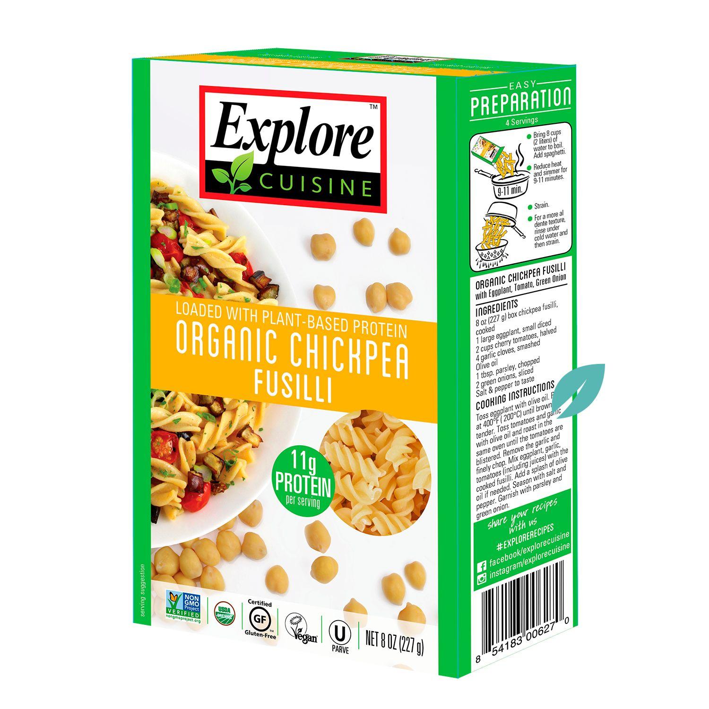 Fusilli Pasta Garbanzos Organicos Explore Cousine 227 grs