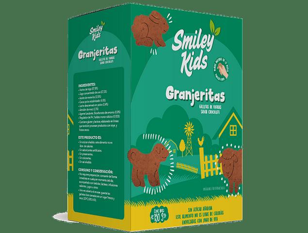 Galletas Granjeritas SmileyKids sabor Chocolate