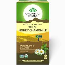 Té Organic India Tulsi en bolsa Miel Manzanilla
