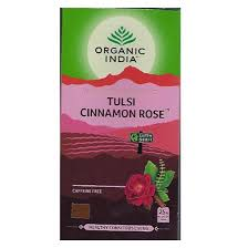 Té Organic India Tulsi en bolsa Canela Rosas