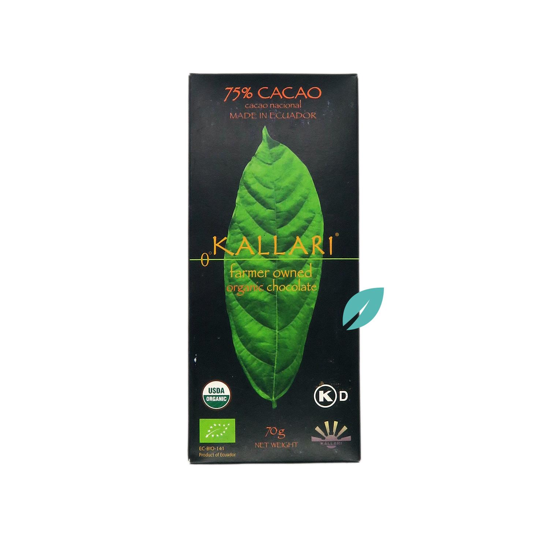 Chocolate organico 75%