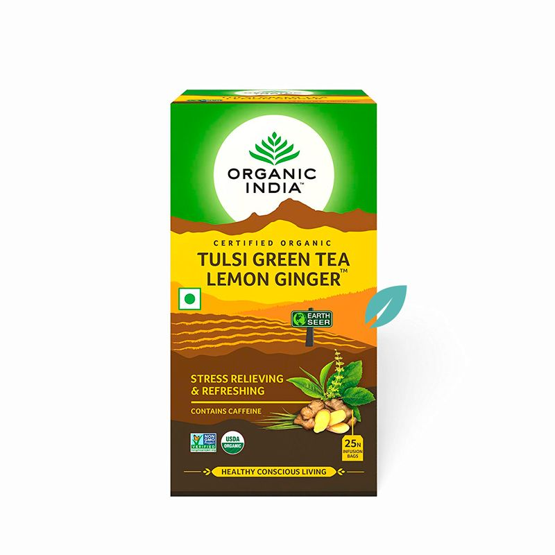 Té Organic India Tulsi en bolsa Limon Jengibre