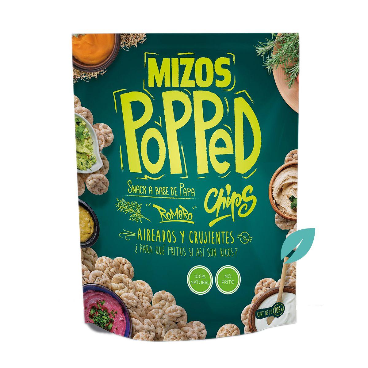 Mizos Popped Chips Papa Con Romero 105 grs