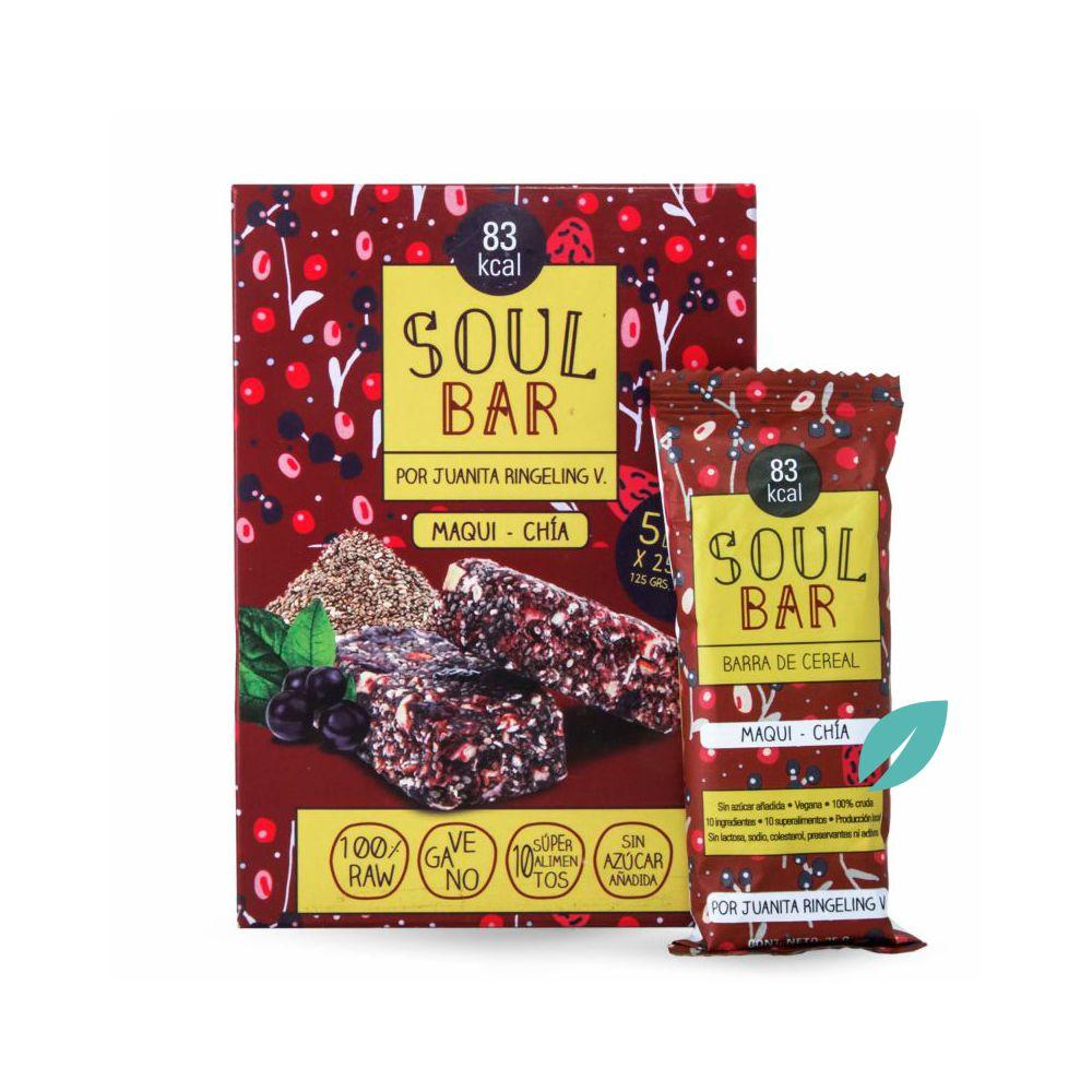Barra de cereal Soul Bar Maqui Chia 5 unidades