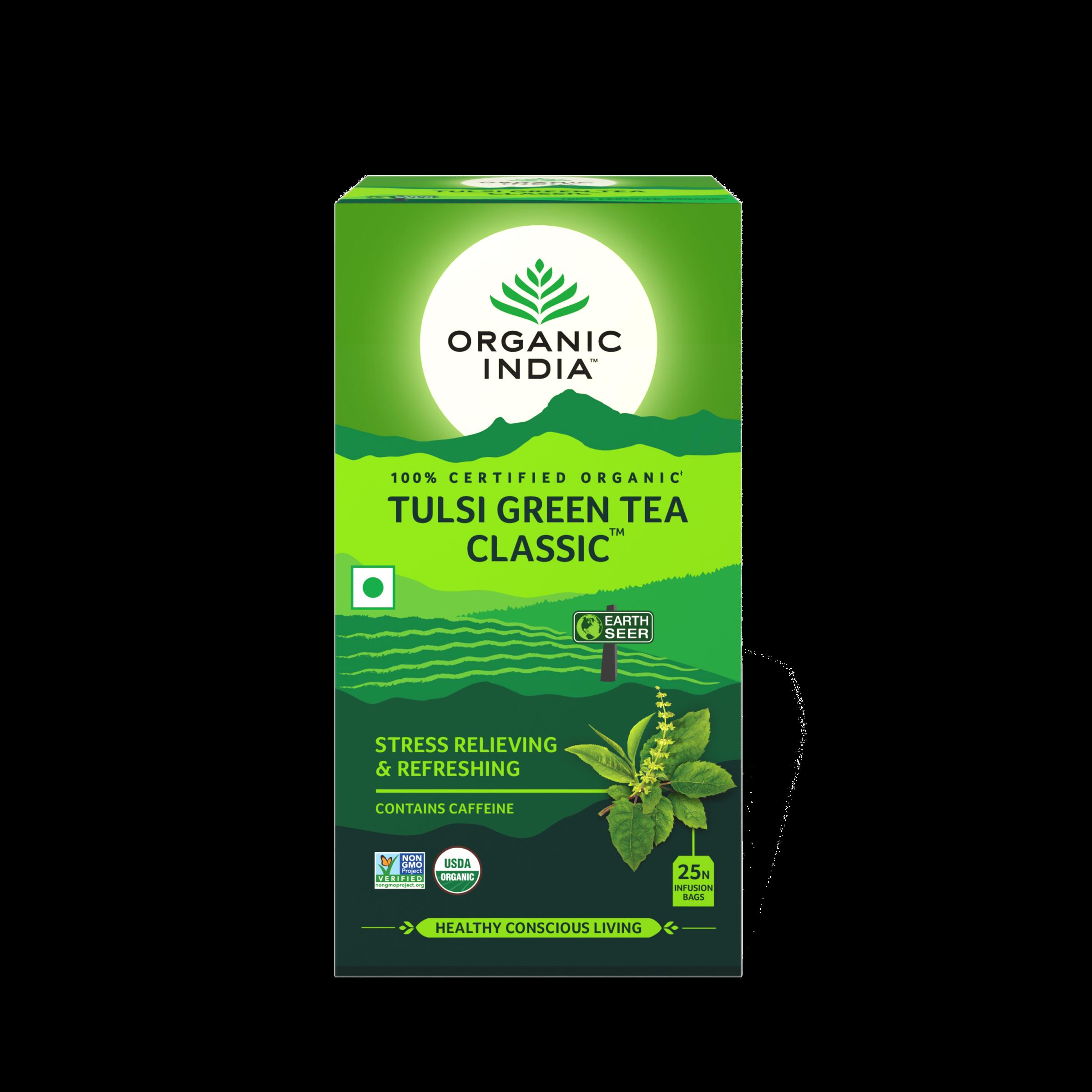 Té Organic India Tulsi en bolsa Green Tea