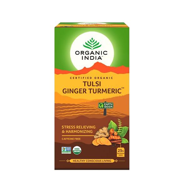 Té Organic India Tulsi en bolsa Curcuma Jengibre