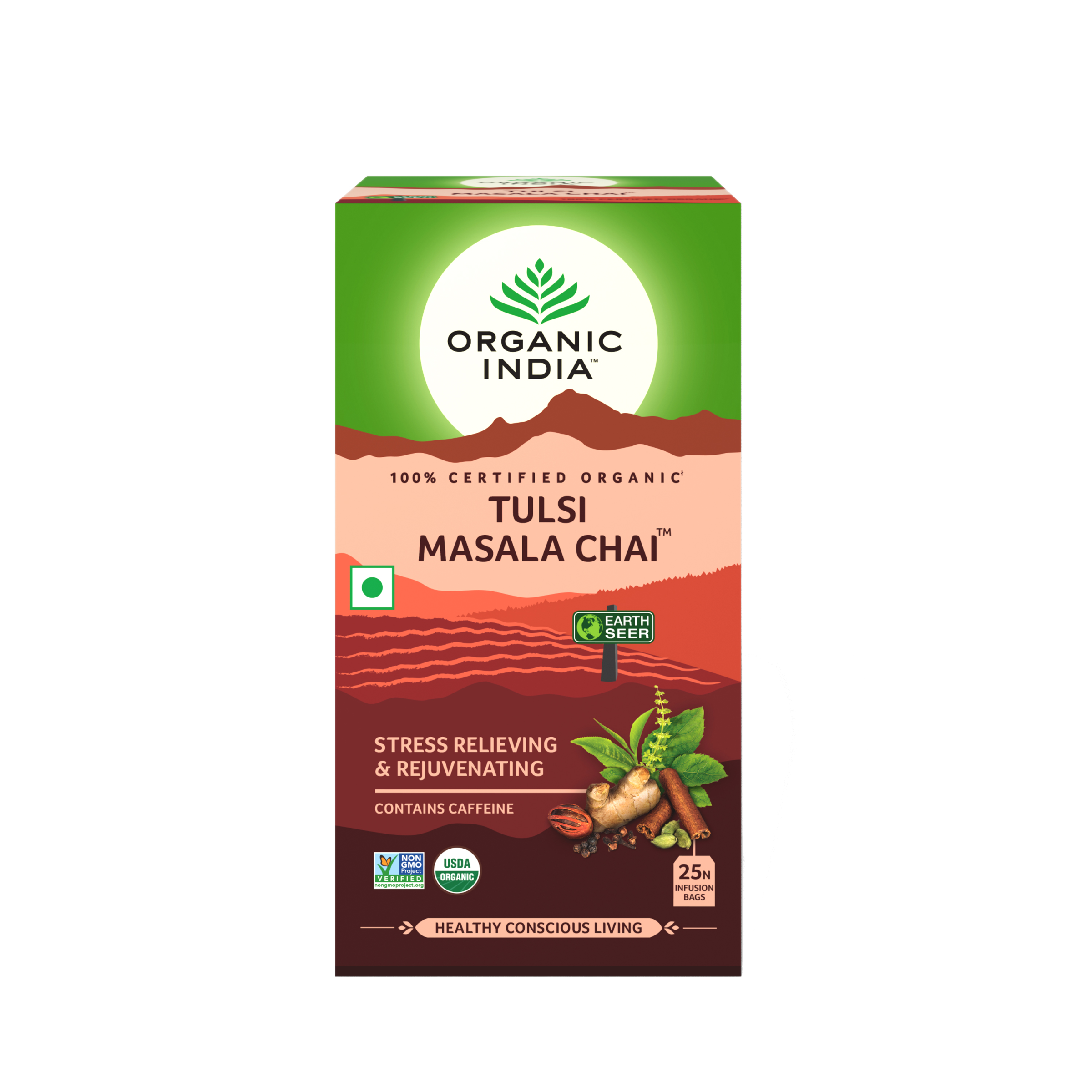 Té Organic India Tulsi en bolsa Masala Chai