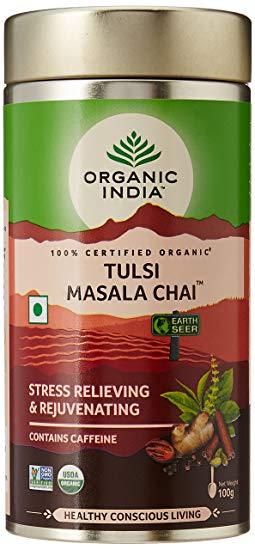 Té Organic India Tulsi en Hojas Masala Chai