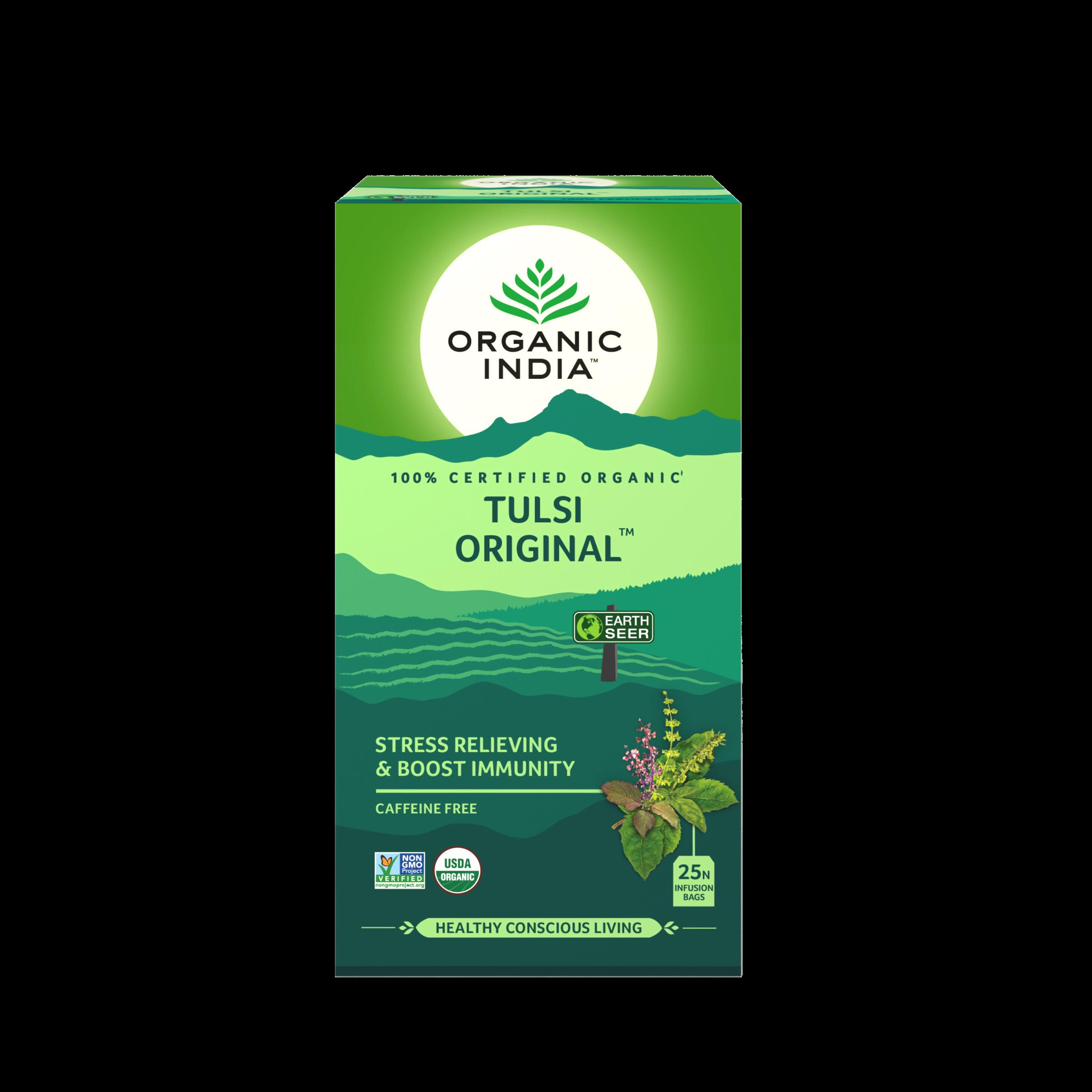Té Organic India Tulsi en bolsa Original