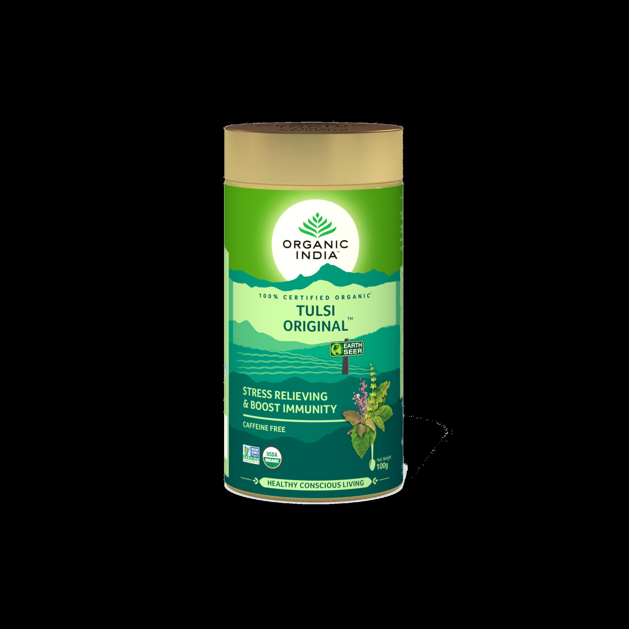 Té Organic India Tulsi en Hojas Original