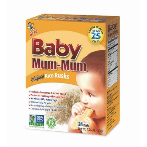 Galletas Baby Mum Mum Sabor Manzana Zapallo