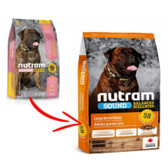 S8 NUTRAM SOUND BALANCED WELLNESS LARGE BREED ADULT DOG FOOD