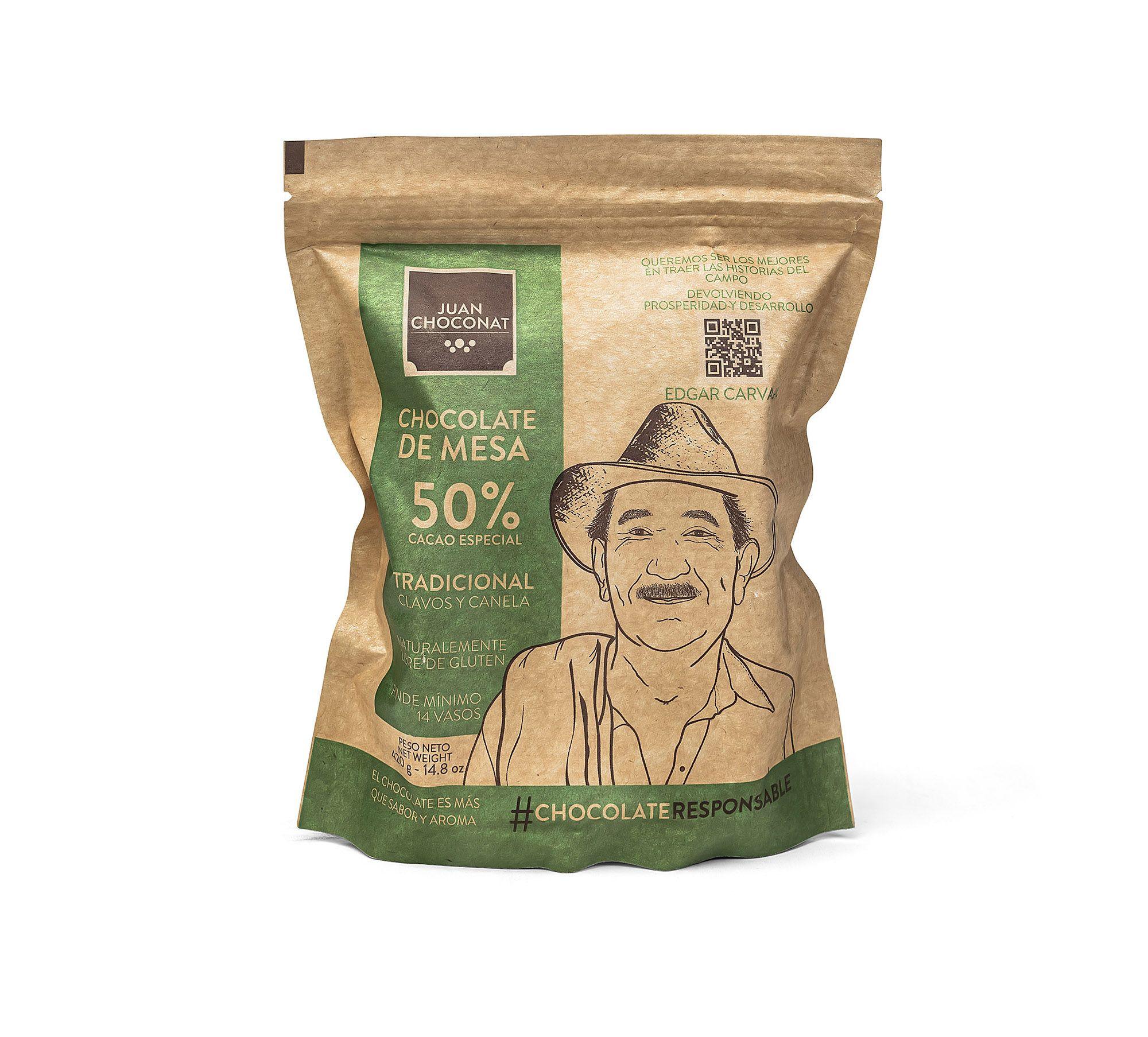 Choconat-50% cacao clavos y canela 420 Gramos