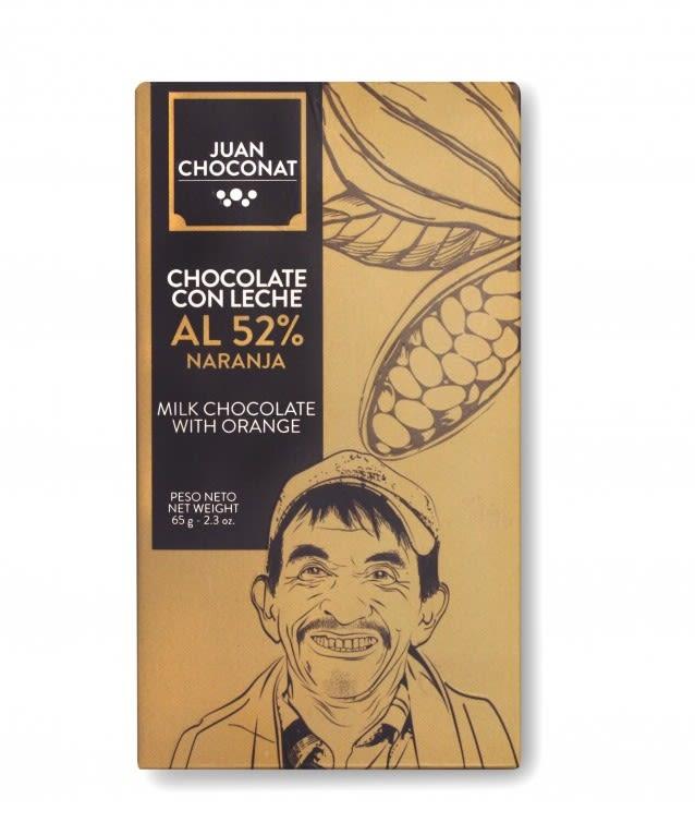 Chocolate 52% Cacao Naranja Leche
