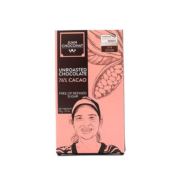 Chocolate 76% Cacao sin Tostar