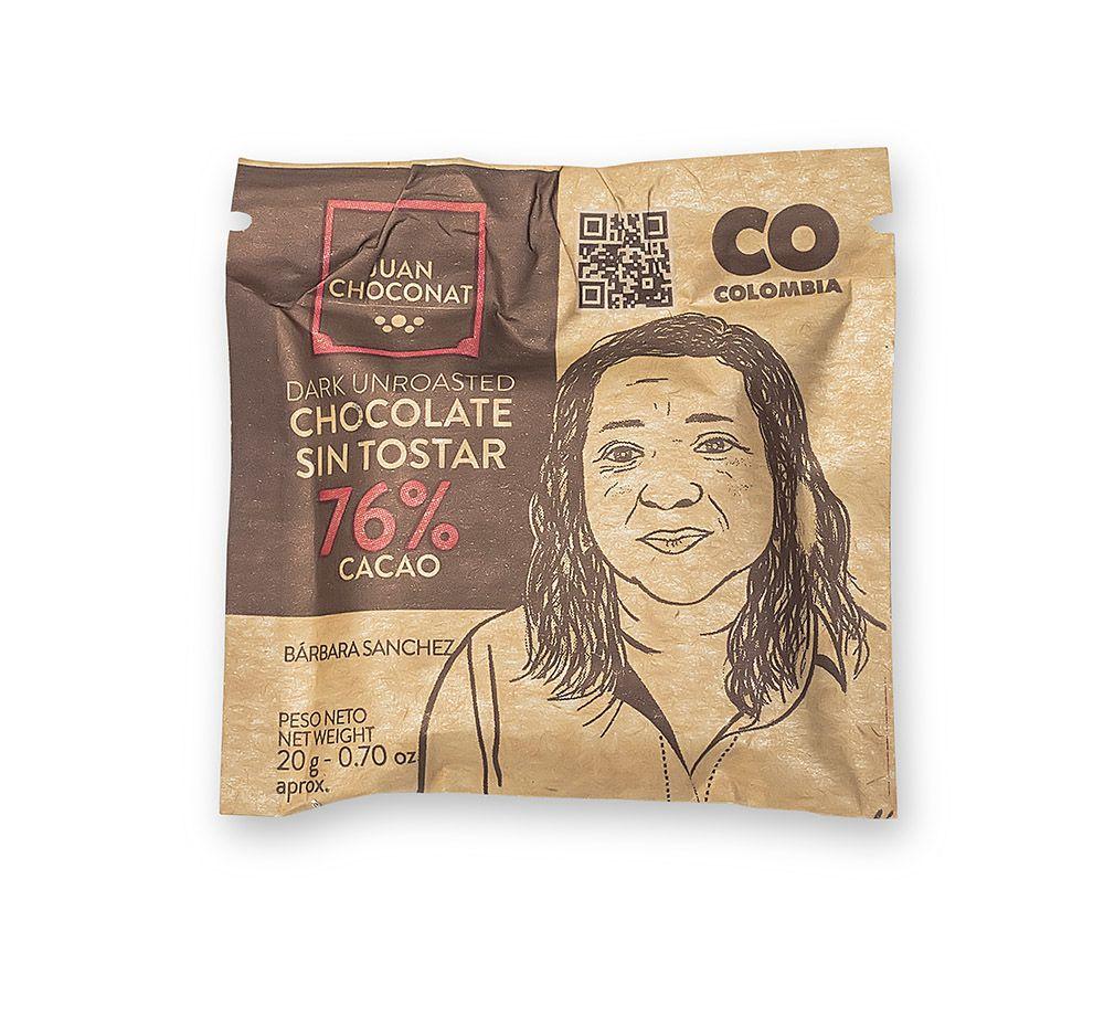 Choconat -76% cacao sin tostar 20 gramos