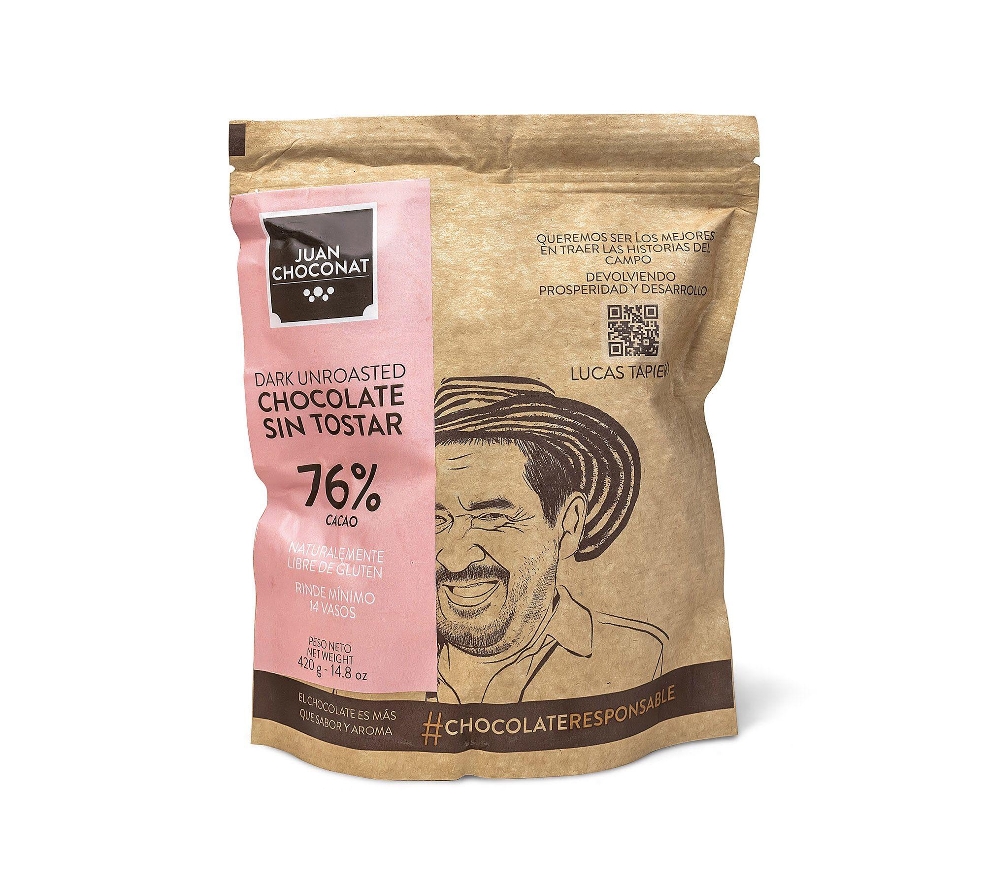 Choconat-76% sin tostar 420 gramos