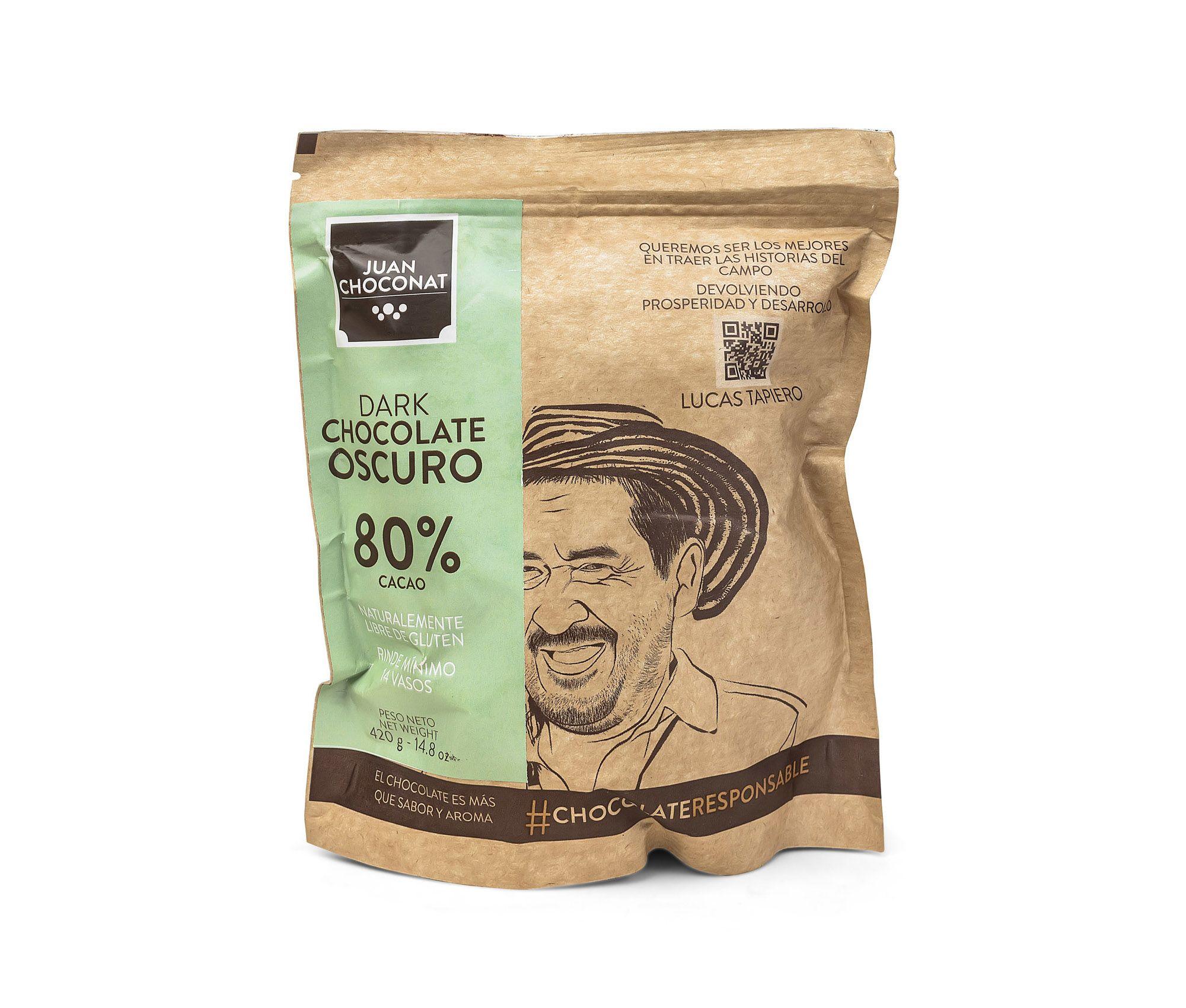 Choconat-80% cacao 420 gramos