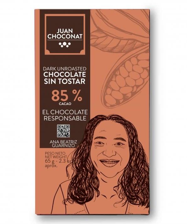 Choconat-85% cacao sin tostar 65 gramos